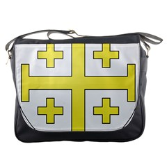 The Arms Of The Kingdom Of Jerusalem  Messenger Bags by abbeyz71