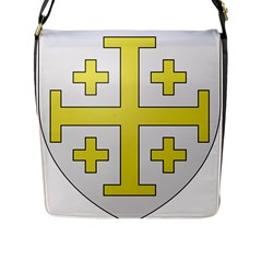 The Arms Of The Kingdom Of Jerusalem  Flap Messenger Bag (l)  by abbeyz71