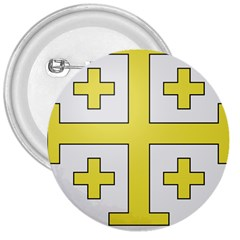 The Arms Of The Kingdom Of Jerusalem 3  Buttons by abbeyz71