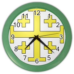 The Arms Of The Kingdom Of Jerusalem Color Wall Clocks by abbeyz71