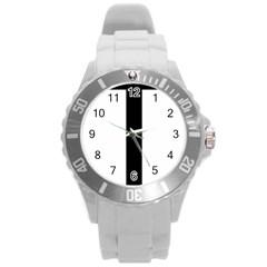 Anchored Cross  Round Plastic Sport Watch (l) by abbeyz71