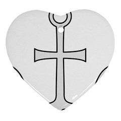 Anchored Cross  Heart Ornament (two Sides) by abbeyz71