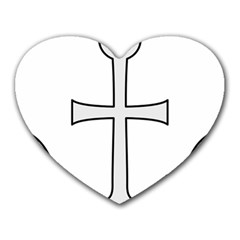 Anchored Cross  Heart Mousepads by abbeyz71