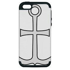 Anchored Cross  Apple Iphone 5 Hardshell Case (pc+silicone) by abbeyz71