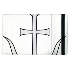 Anchored Cross  Apple Ipad 3/4 Flip Case by abbeyz71
