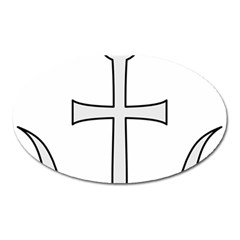 Anchored Cross Oval Magnet by abbeyz71