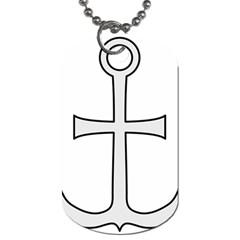 Anchored Cross Dog Tag (one Side) by abbeyz71