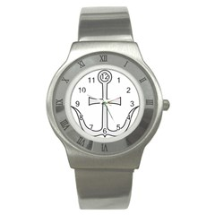 Anchored Cross Stainless Steel Watch by abbeyz71