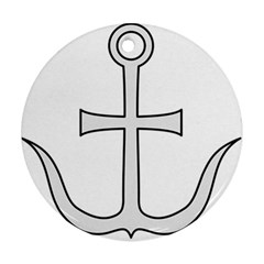 Anchored Cross Round Ornament (two Sides) by abbeyz71