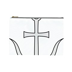 Anchored Cross Cosmetic Bag (large)  by abbeyz71