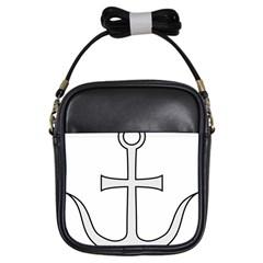 Anchored Cross Girls Sling Bags by abbeyz71