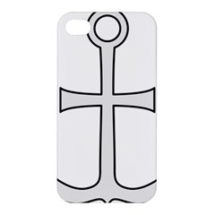 Anchored Cross Apple Iphone 4/4s Premium Hardshell Case by abbeyz71