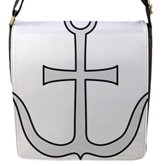 Anchored Cross Flap Messenger Bag (s) by abbeyz71