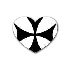 Bolnisi Cross Rubber Coaster (heart)  by abbeyz71