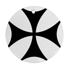 Bolnisi Cross Round Ornament (two Sides) by abbeyz71