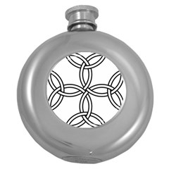 Carolingian Cross Round Hip Flask (5 Oz) by abbeyz71