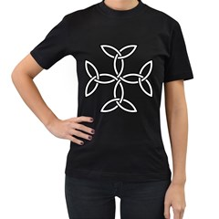 Carolingian Cross Women s T Shirt (black) by abbeyz71