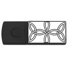 Carolingian Cross Usb Flash Drive Rectangular (4 Gb) by abbeyz71