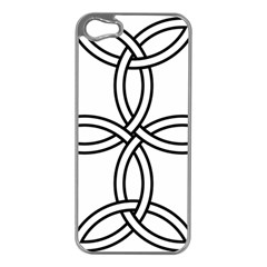 Carolingian Cross Apple iPhone 5 Case (Silver)