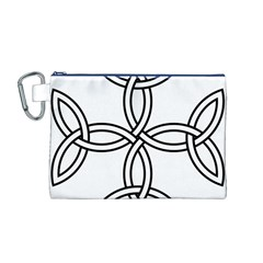 Carolingian Cross Canvas Cosmetic Bag (m) by abbeyz71