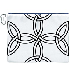 Carolingian Cross Canvas Cosmetic Bag (xxxl) by abbeyz71