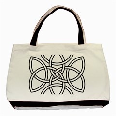 Carolingian Cross Basic Tote Bag (two Sides) by abbeyz71