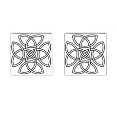 Carolingian Cross Cufflinks (square) by abbeyz71