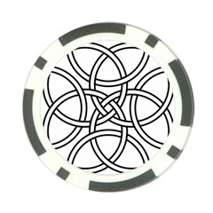 Carolingian Cross Poker Chip Card Guard (10 Pack) by abbeyz71
