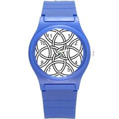 Carolingian Cross Round Plastic Sport Watch (s) by abbeyz71