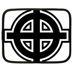 Celtic Cross Netbook Case (large) by abbeyz71