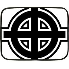 Celtic Cross Double Sided Fleece Blanket (mini)  by abbeyz71