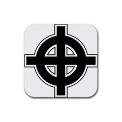 Celtic Cross Rubber Coaster (square)  by abbeyz71