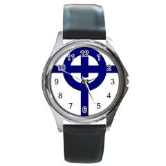 Celtic Cross  Round Metal Watch by abbeyz71