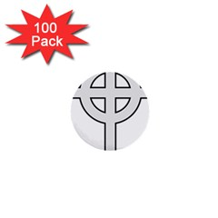 Celtic Cross  1  Mini Buttons (100 Pack)  by abbeyz71