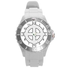 Celtic Cross  Round Plastic Sport Watch (l) by abbeyz71
