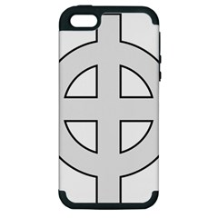 Celtic Cross  Apple Iphone 5 Hardshell Case (pc+silicone) by abbeyz71
