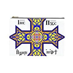 Coptic Cross Cosmetic Bag (large)  by abbeyz71