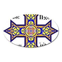 Coptic Cross Oval Magnet by abbeyz71