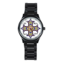 Coptic Cross Stainless Steel Round Watch by abbeyz71