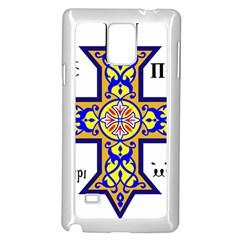 Coptic Cross Samsung Galaxy Note 4 Case (white) by abbeyz71