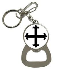 Cross Fleury Button Necklaces by abbeyz71