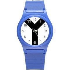 Forked Cross Round Plastic Sport Watch (s) by abbeyz71