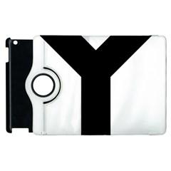 Forked Cross Apple Ipad 3/4 Flip 360 Case by abbeyz71