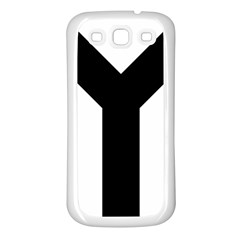 Forked Cross Samsung Galaxy S3 Back Case (white) by abbeyz71