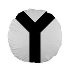 Forked Cross Standard 15  Premium Flano Round Cushions by abbeyz71