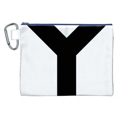 Forked Cross Canvas Cosmetic Bag (xxl) by abbeyz71