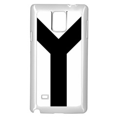 Forked Cross Samsung Galaxy Note 4 Case (white) by abbeyz71
