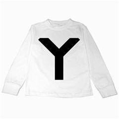 Forked Cross Kids Long Sleeve T Shirts by abbeyz71