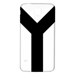 Forked Cross Samsung Galaxy S5 Back Case (white) by abbeyz71