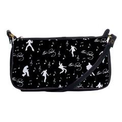 Elvis Presley Pattern Shoulder Clutch Bags by Valentinaart